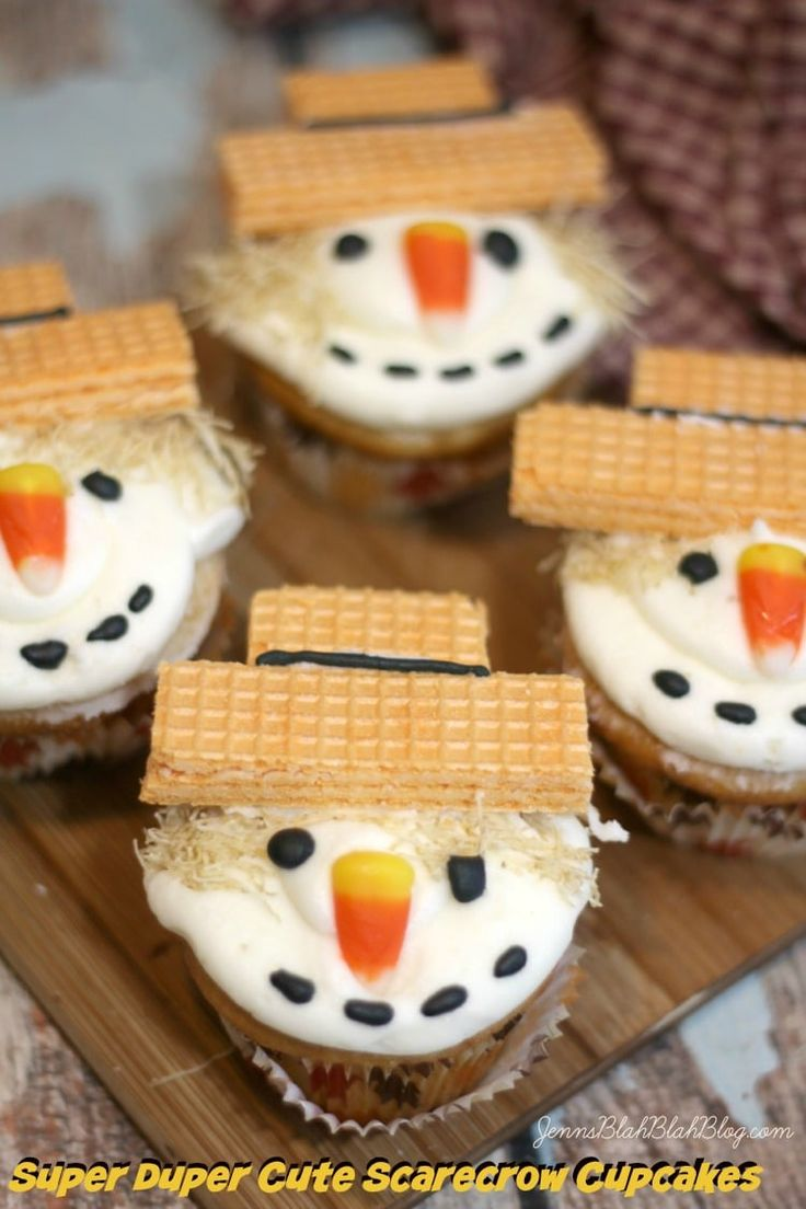 Cute Scarecrow Cupcakes Recipe