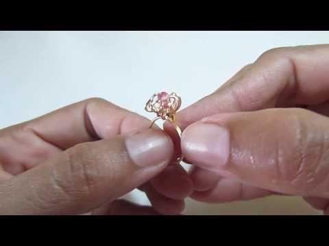 Vean q Cuchitura!! Un Anillo Flor para Niñas!!!! - YouTube