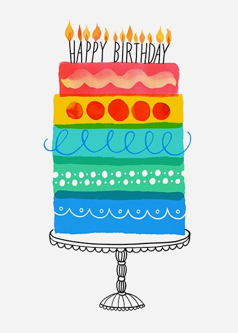 Margaret Berg Art: Layer Cake Birthday