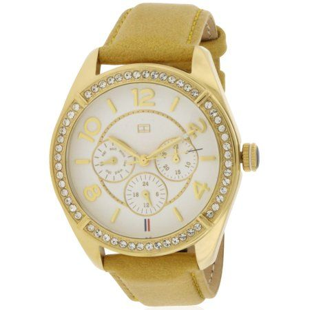 Tommy Hilfiger Gracie Tan Leather Ladies Watch 1781250, Size: 40 mm, Gold
