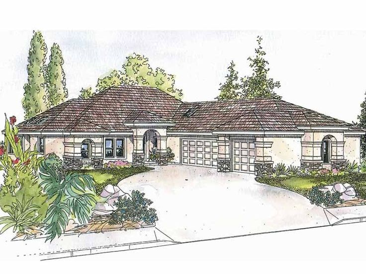Eplans Mediterranean Modern House Plan Two Bedroom