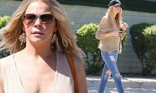 Leann Rimes upstages Brandi Glanville flashing bra in plunging dress