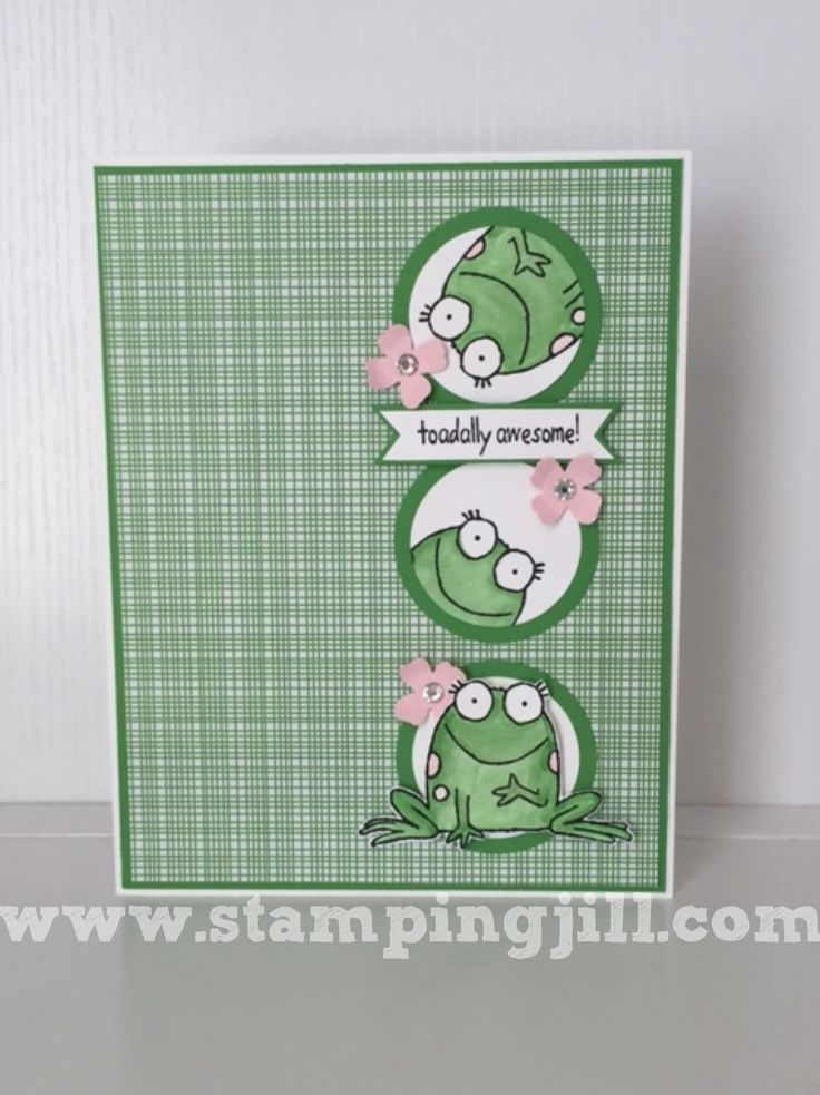 Stampin Up Birthday Cards For Kids ~ Best images about cards frogs toads on pinterest