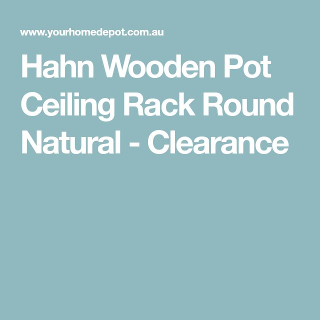 Hahn Wooden Pot Ceiling Rack Round Natural - Clearance