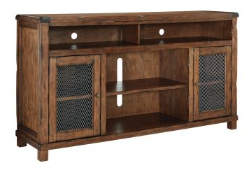 Tamonie Extra Large TV Stand w/ Opening to add Optional Fireplace (not included) | Ashley | Home Gallery Stores