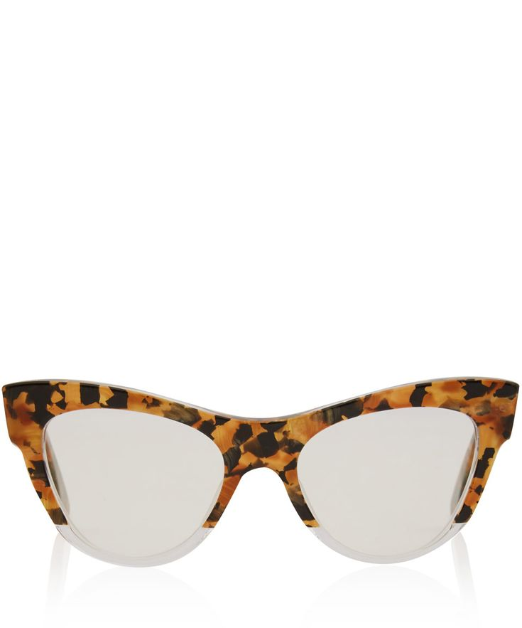 Miu Miu Brown Camouflage Cat Eye Glasses | Eyewear by Miu Miu | Liberty.co.uk