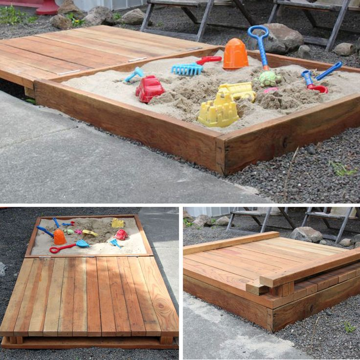 Sandbox With Hinged Lid Deck Full Tutorial Here Http
