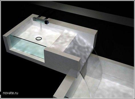 Водопад в вашей ванной  Однажды искупавшись в натуральном водоеме, понимаешь, что живем мы в спичечных коробках, в которых самим бы уместиться, а уж о большой ванне некоторым приходится лишь мечтать. Ведь джакузи для некоторых будет стоить космическую цену, но так хочется иметь огромную ванну дома…    ванна, душ, вода, водопад
