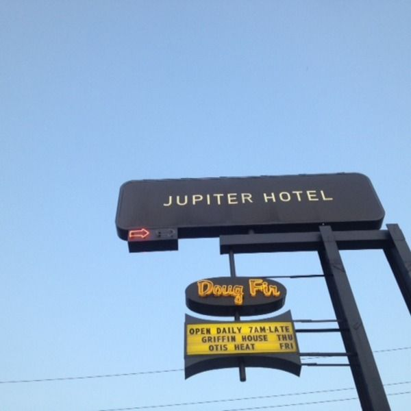 The Jupiter Hotel is a modern, retro-cool value hotel located a few short blocks from the Burnside Bridge (make sure you get that snapshot of the Portland, Oregon sign on the way).  There are a lot of cool places within four blocks of the hotel. The Doug Fir is the hotel's resident bar, featuring...