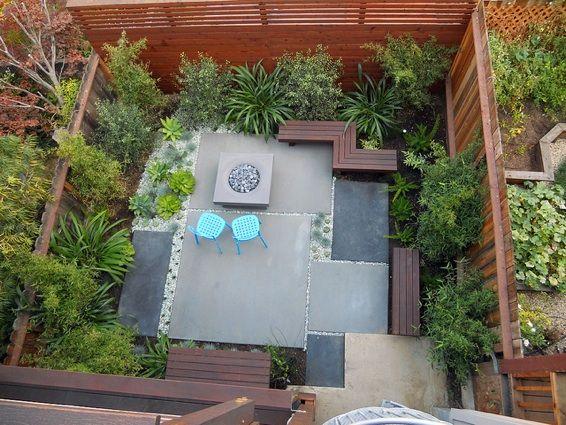 big backyard backyard landscaping concrete garden landscape