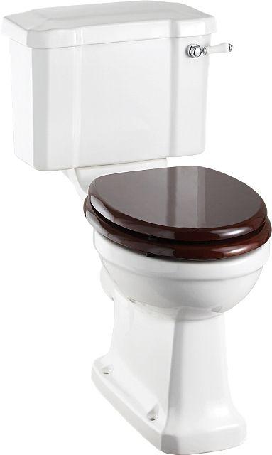 Toalett - Burlington golvstående WC med smal cistern & sits - Sekelskifte