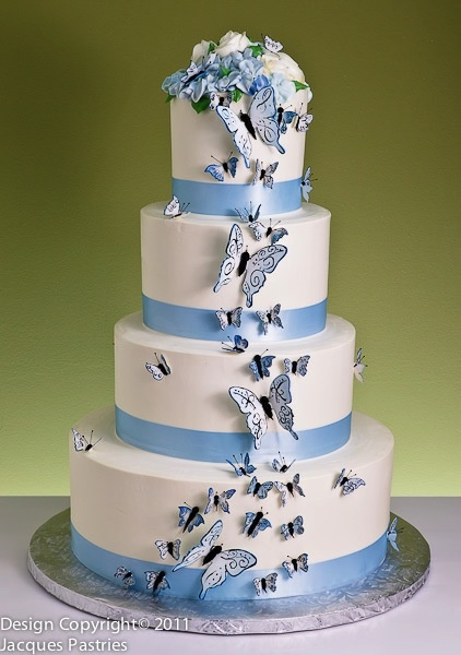 Look at All These Damn Butterflies Cake by Jacques Fine European Pastries (LOL - kidding. It's called Floating Butterflies Cake.)