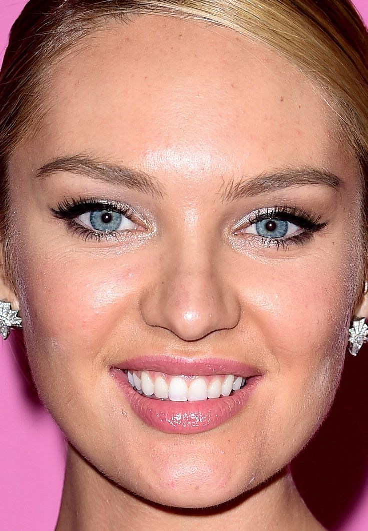 Close-up of Candice Swanepoel at the 2014 Victoria's Secret Fashion Show after-party. http://beautyeditor.ca/2014/12/05/victorias-secret-after-party-2014