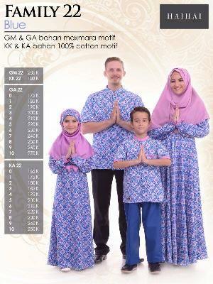 Baju Sarimbit HAI-HAI FAMILY 22 BLUE
