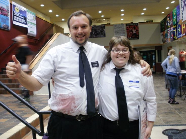 rocking my spooky mormon hell dream halloween costume with my companion elder - Mormon Halloween Costumes