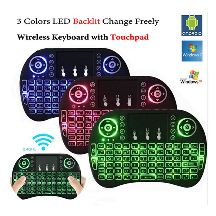 Backlit en normale i8 Air Mouse Mini Draadloze Toetsenbord Touchpad Afstandsbediening voor Android TV BOX Backlight PC PS3 Gamepad