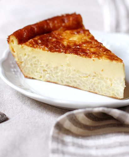 Tuscan Rice and Custard Torta (Torta di Riso alla Carrarina)  actually, custard and rice together are scrumptious
