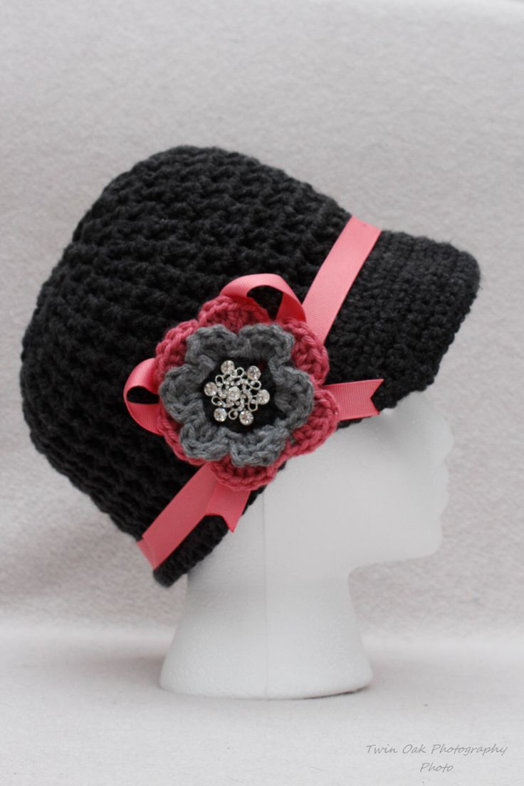A personal favorite from my Etsy shop https://www.etsy.com/listing/503925425/charcoal-grey-and-pink-fitted-womens-hat
