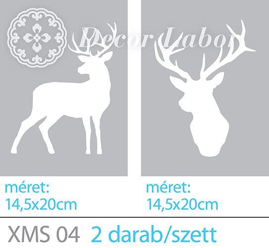 deer stencil small / kis szarvas szett http://decorlabor.hu/osszes%20minta/kis_szarvas_szett_346