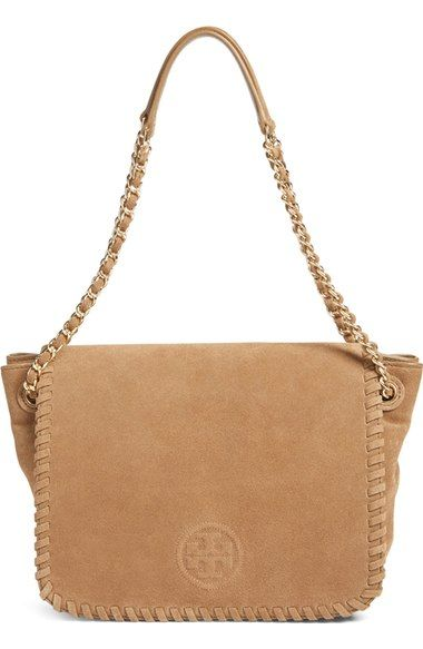 Tory Burch 'Small Marion' Suede Shoulder Bag $301