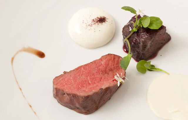 Beef cheek and fillet are cooked with expertise in this wintery dish from Great British Chef Agnar Sverrisson