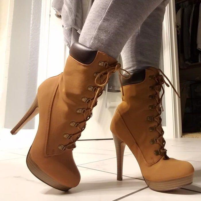 Hiking Boots With High Heels | Heels