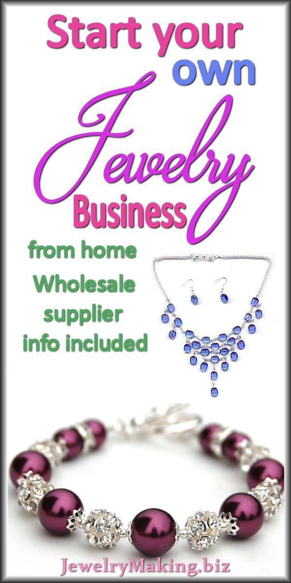HOW TO START A JEWELRY BUSINESS USING A WHOLESALE SUPPLIER. From: JewelryMaking.biz business tips #succeed #business