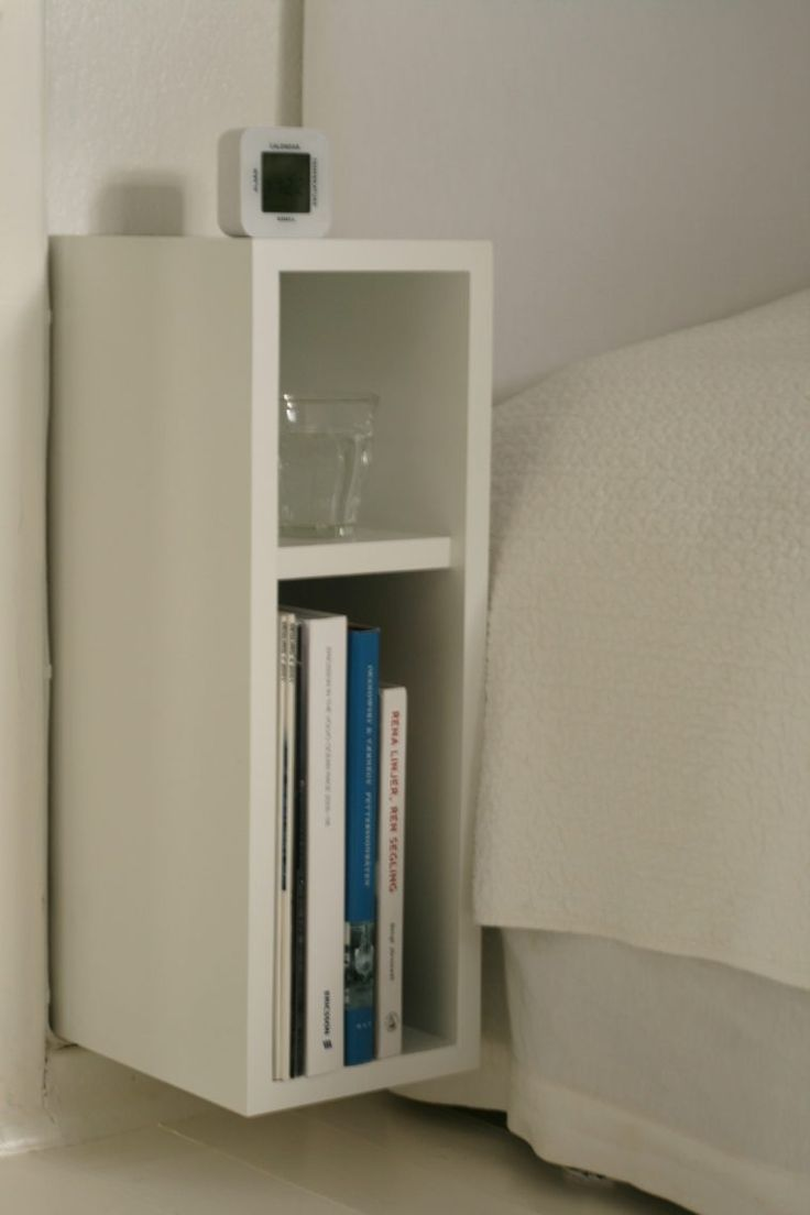 White Wooden Wall Mounted Bedside Table With Shelves As Well As Wide Bedside  Tables Also Tall