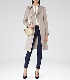 Womens Tiramisu Relaxed Trench Coat - Reiss Radzi