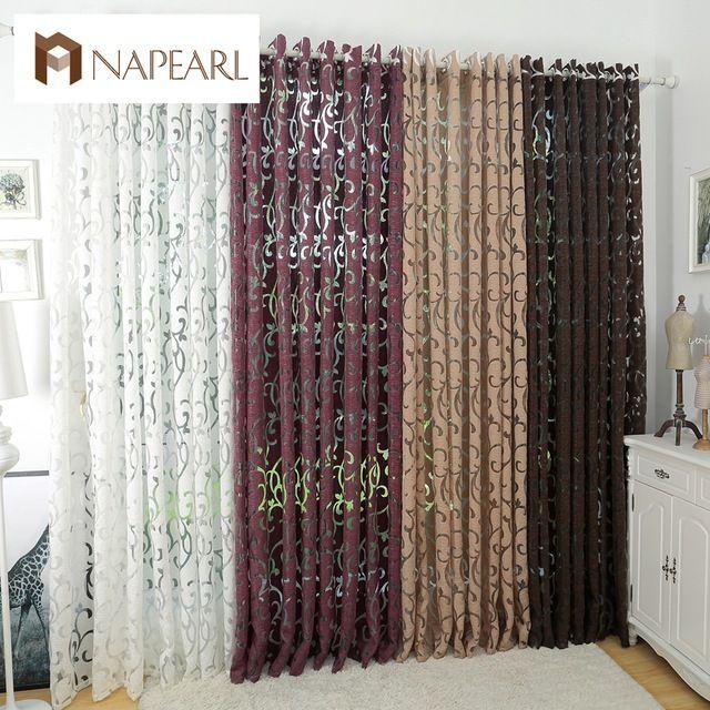 Роскошный стиль моды полу-плотные шторы кухня шторы гостиная гостиная занавес панели жаккардовые ткани двери