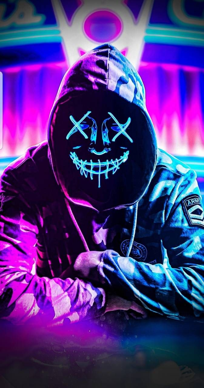 Download Neon mask wallpaper by RJ1805 71 Free on