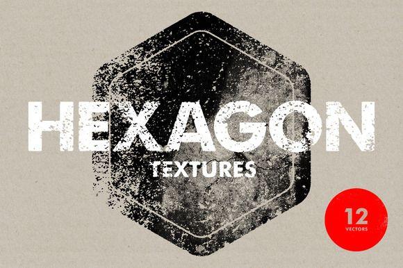 Hexagon Textures - 12 Vectors by Offset on @creativemarket