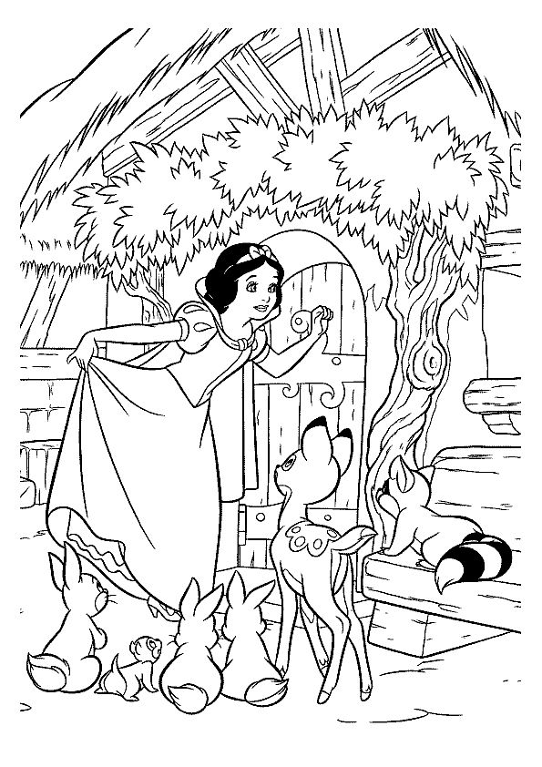 free printable Snow White coloring pages