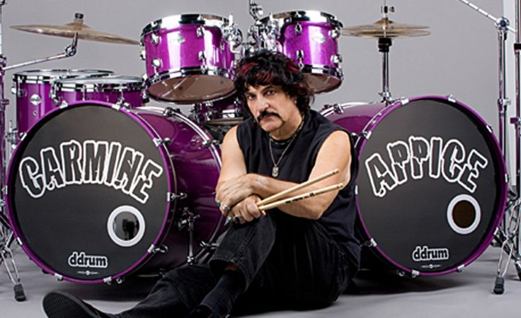 "Carmine Appice- drummer for Rod Stewart, Vanilla Fudge, Cactus, Beck, Bogert & Appice among others. Also author of the drum lesson book, ""Realistic Rock"" among others."