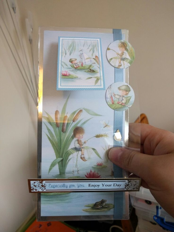 """Hunkydory Crafts Garden Secrets Collection card with acetate frontage, """"enjoy your day"""""""