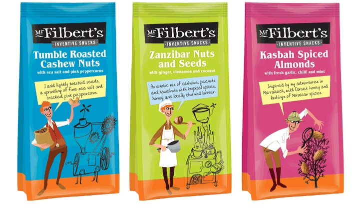 Packaging designed which launched these nuts into Harvey Nicks!