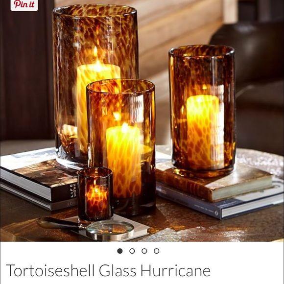 Tortoiseshell glass vase Pottery Barn