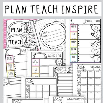 Plan Teach & Organize - Teacher Planning Pages