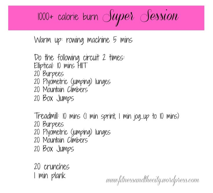 1000+ Calorie Burn Workout