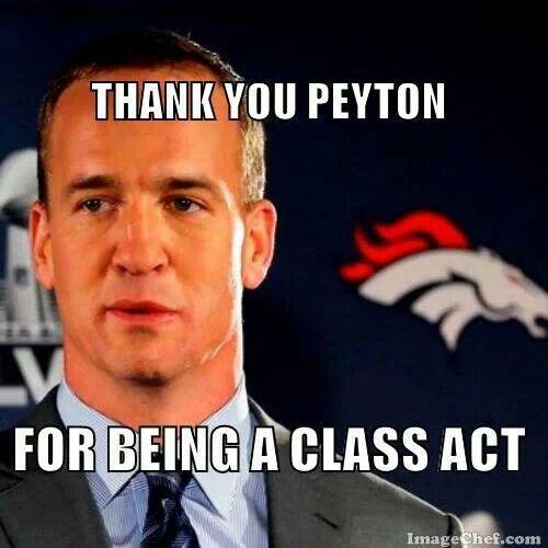 Thank you Peyton! God Bless Peyton Manning