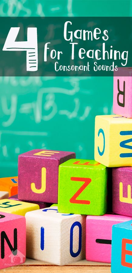 Four Games for Teaching Consonant Sounds to Children – Free Printable By Michelle Eichhorn