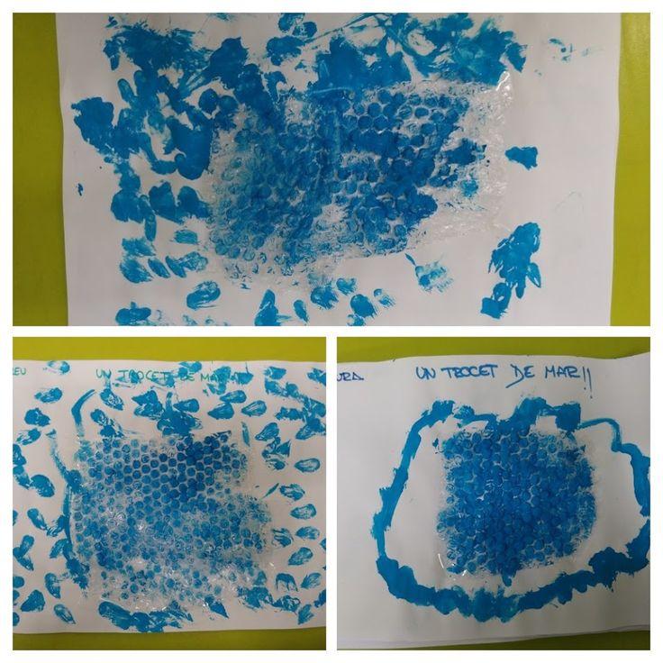 UN TROSSET DE MAR - Material: paper, pintura, plàstic de bombolles - Nivell: P3 INF 2015/16 Escola Pia Balmes