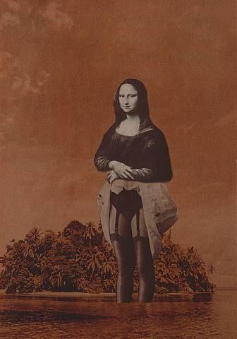 Mona Lisa in Water - Jimmy Ernst, 1974