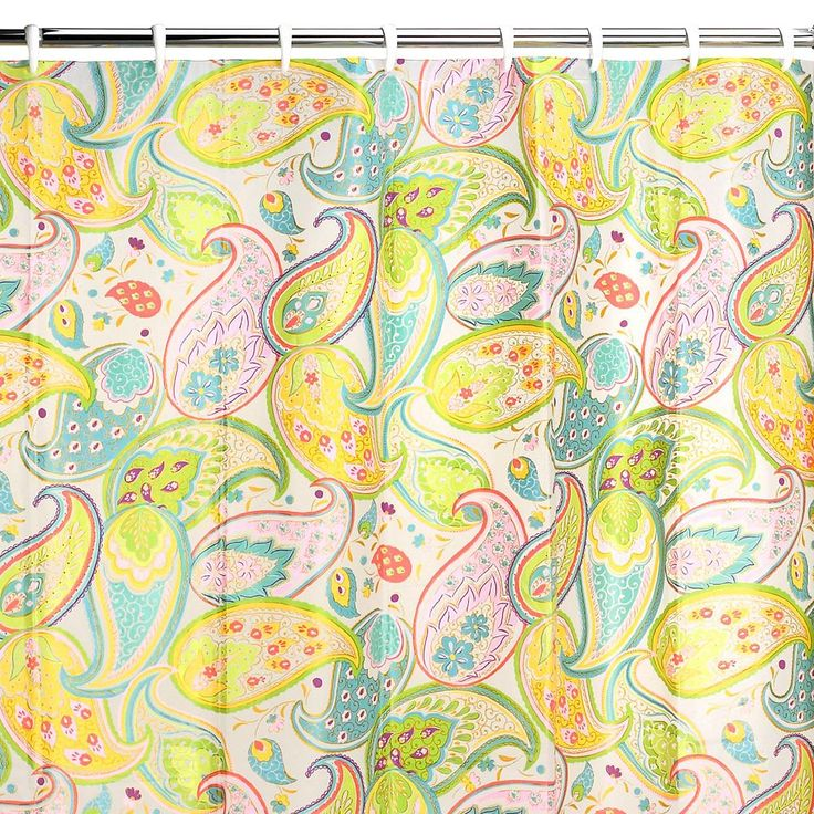 Creative Bath Cool Paisley Vinyl Shower Curtain, Multicolor