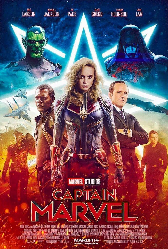 """[Cine] """"CAPTAIN MARVEL"""" Este es un póster hecho por un"""