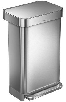 45L Rectangular Step Can with Bonus 60 Pack Liners Affiliate Link