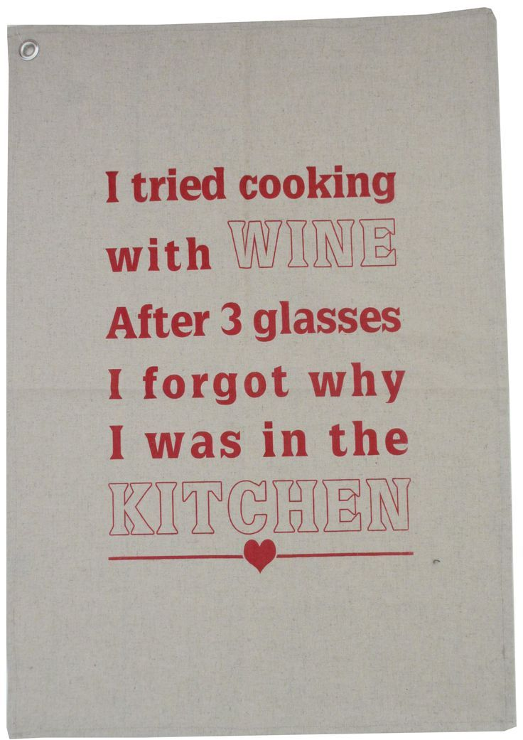 Tea towels with fun wine sayings available in red or black on cotton linen fabric.