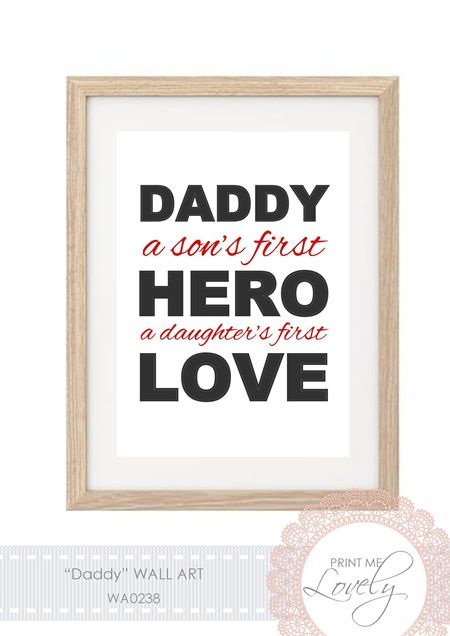 """""""DADDY"""" Father's Day Wall Print A5 Cardstock 