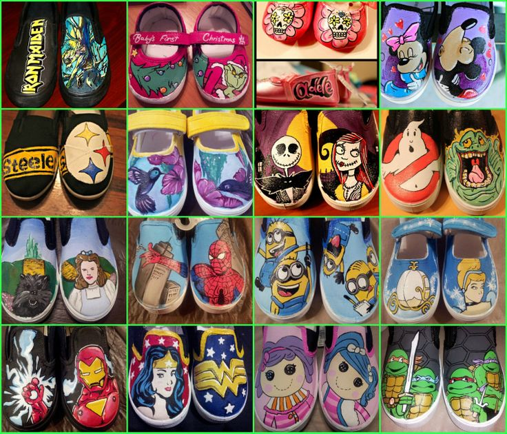 Custom hand painted shoes. Just about any design by BowsNsoles, $50.00