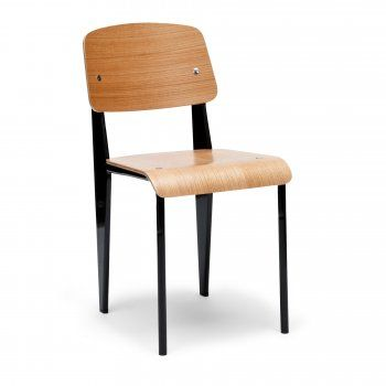 Jean Prouve Style Black Standard Chair - Jean Prouve from Cult Furniture UK